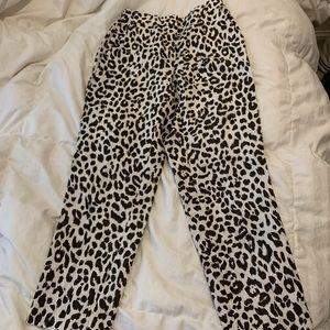 J.crew leopard pants